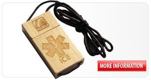 sports id wooden tag