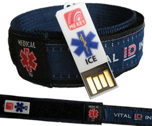 Blue Medical ID Wristband (Large)