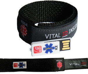 Charcoal Grey Medical Wristband (Large)