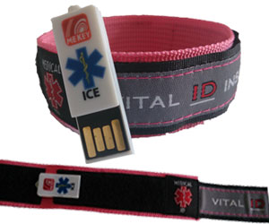 Sports ID Wristband Pink (Large)