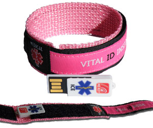 emergency id wristband pink (medium)
