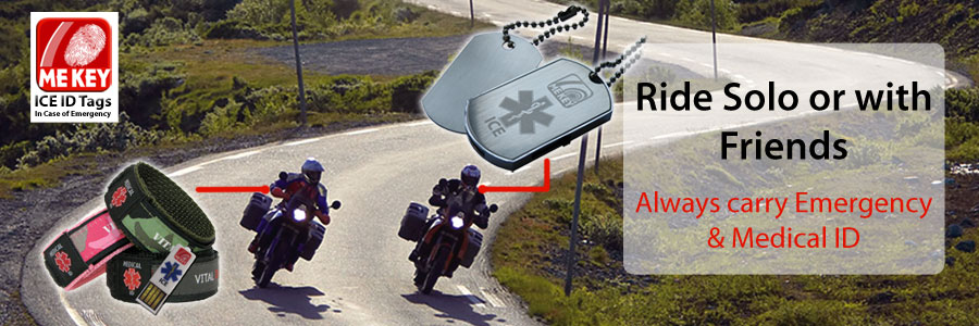 biker id tags emergency id for motorcyclists