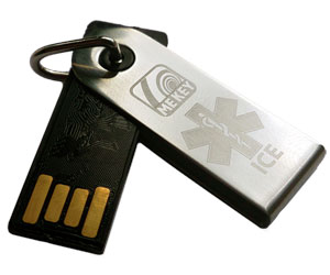 medical id key ring