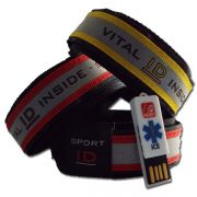 yellow red sport id wristbands